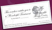 USparkle Therapy Centre & Day Spa Xmas gift vouchers